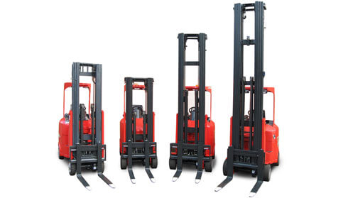 models of flexi very narrow aisle forklifts