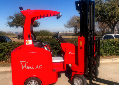 Articulating forklift The Flexi Narrow Aisle Forklift AC Powered articulating forklift flexi directly competes with landoll bendi combilift aisle master double reach trucks turret trucks electric forklifts. The flexi is cold storage forklift ready
